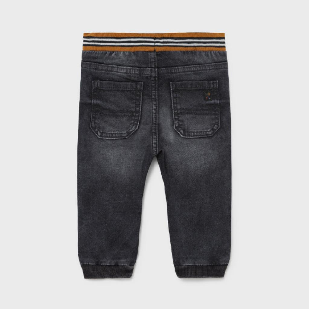 Mayoral Pantalon jogger soft jean - Noir