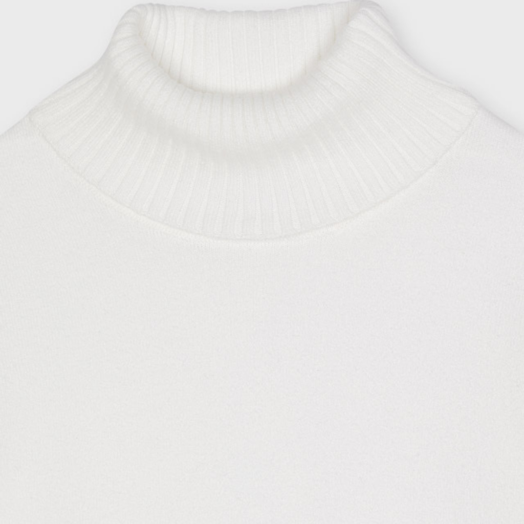 Mayoral Sous-pull tricot basic - Ecru