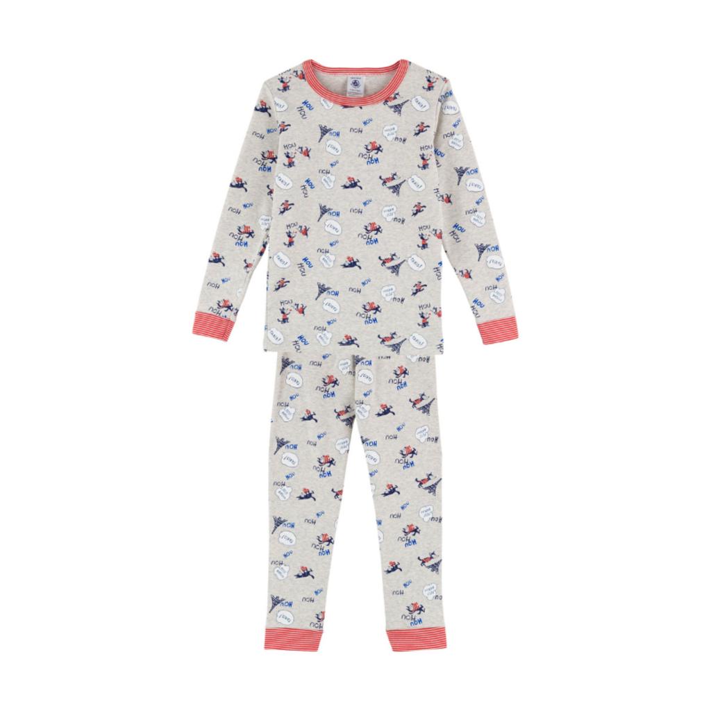 Petit Bateau Pyjama - gris-rouge -