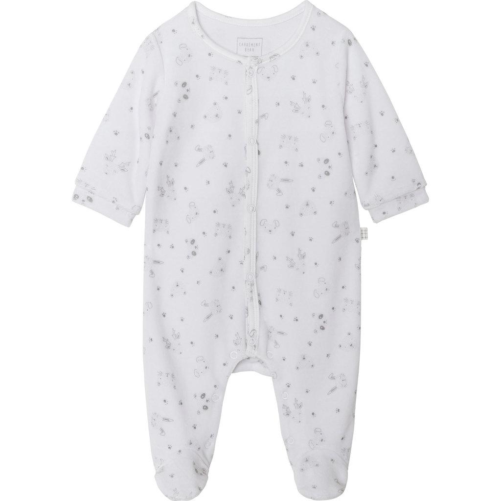 Carrément Beau Pyjama velours- Animal