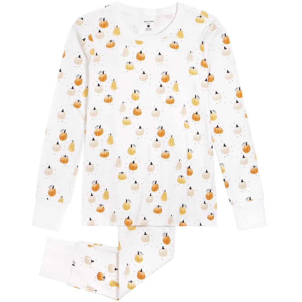Petit Lem Pyjama potirons - blanc