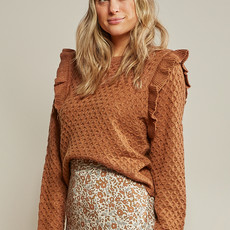 Rylee & Cru Femme - La Reina sweater - rust -