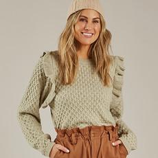 Rylee & Cru Femme - La Reina sweater - agave -