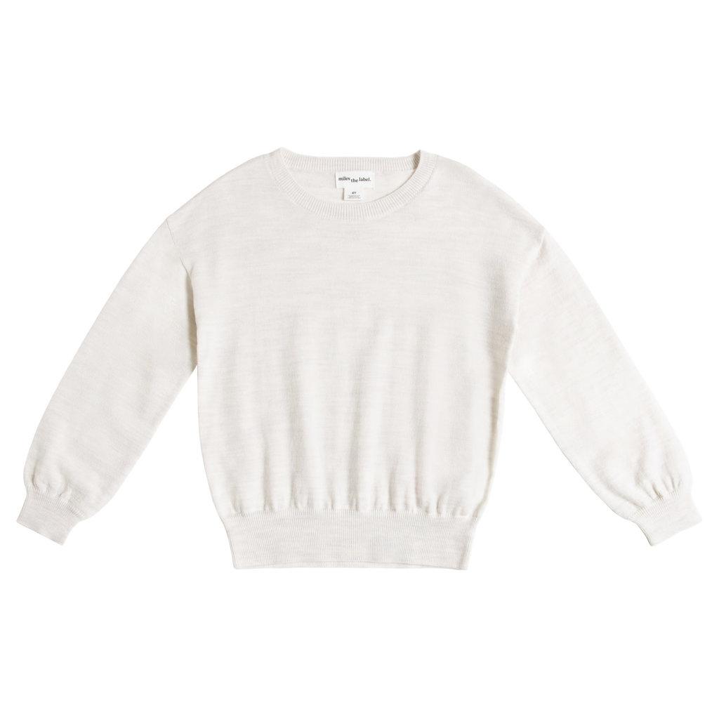 Miles Baby Chandail tricot manche longue - Beige -