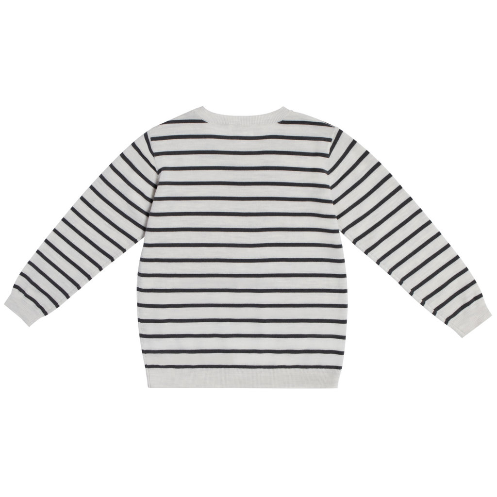 Miles Baby Chandail manche longue tricot - Gris