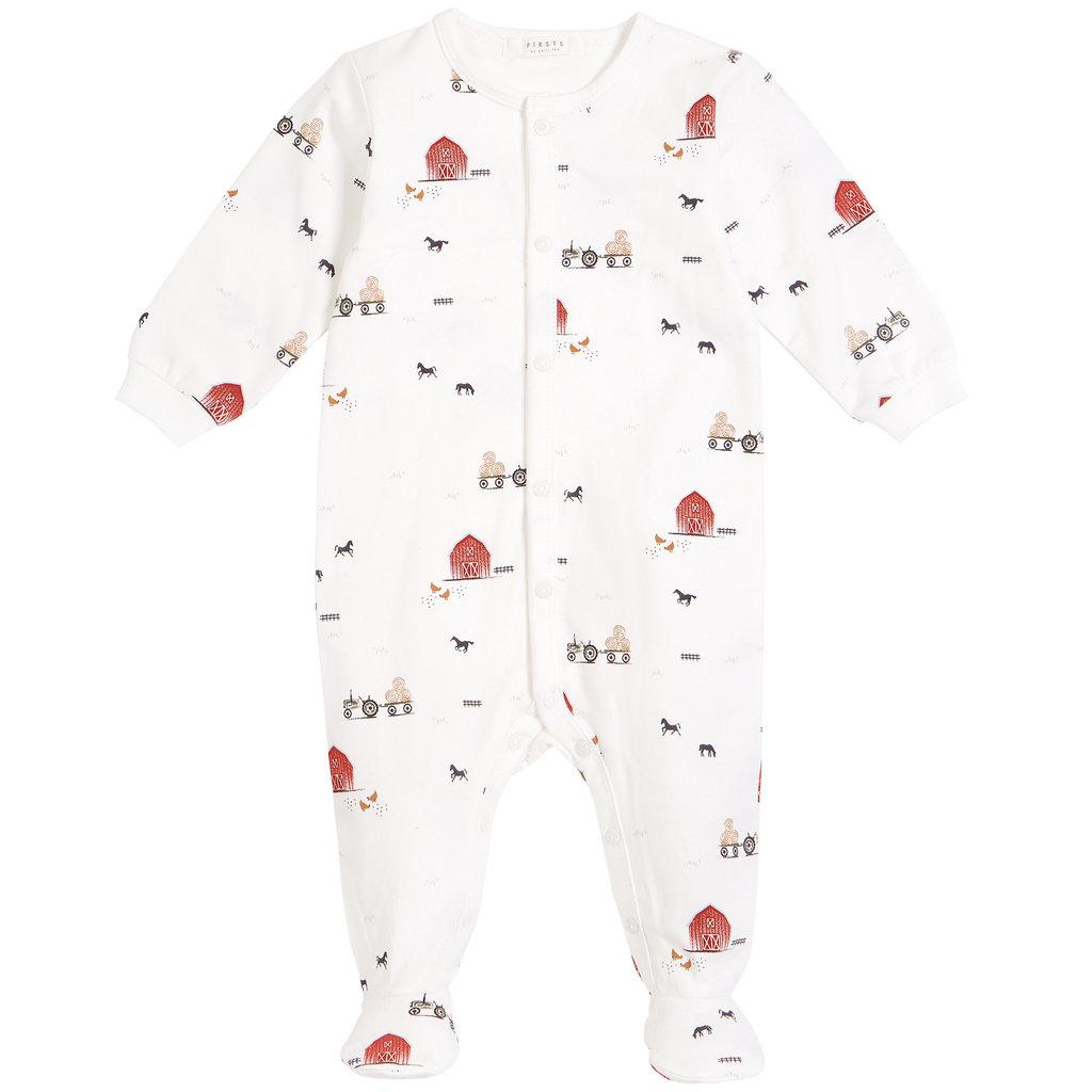 Petit Lem Pyjama la grange - Blanc