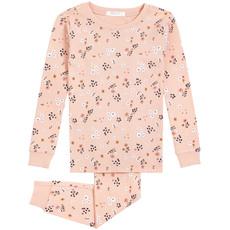 Petit Lem Pyjama fleurs des champs- Rose