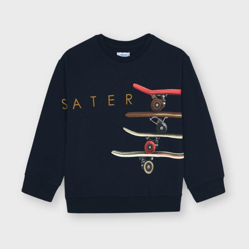 Mayoral Pullover serigraphie skater - Marine