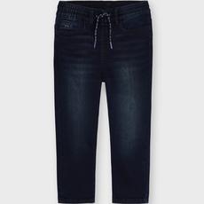 Mayoral Pantalon jeans soft denim jogger - Bleu-Noir