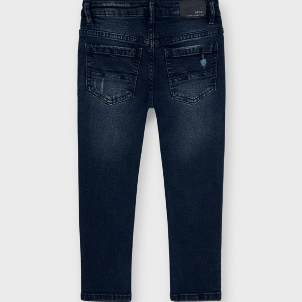Mayoral Pantalon jean straight fit - Bleu