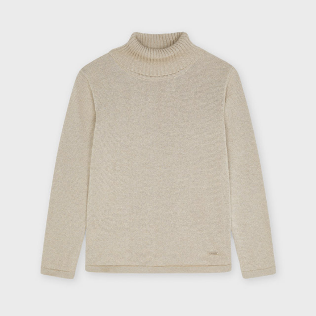 Mayoral Sous-pull tricot basic - Biscuit vig.