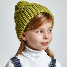 Mayoral Tuque tricot - Ecru