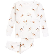 Petit Lem Pyjama  Epis blé doré - Blanc