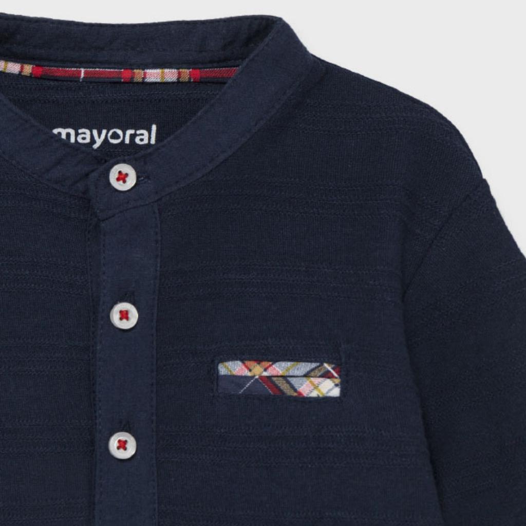 Mayoral Chandail col mao - bleu marin -