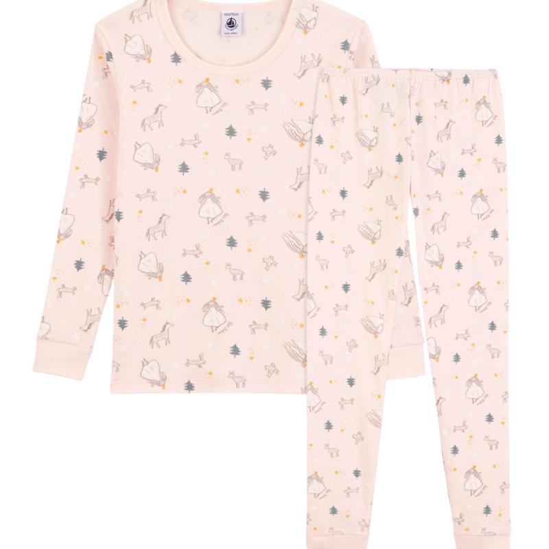 Petit Bateau Pyjama snug fit imprimé princesses petite fille en coton