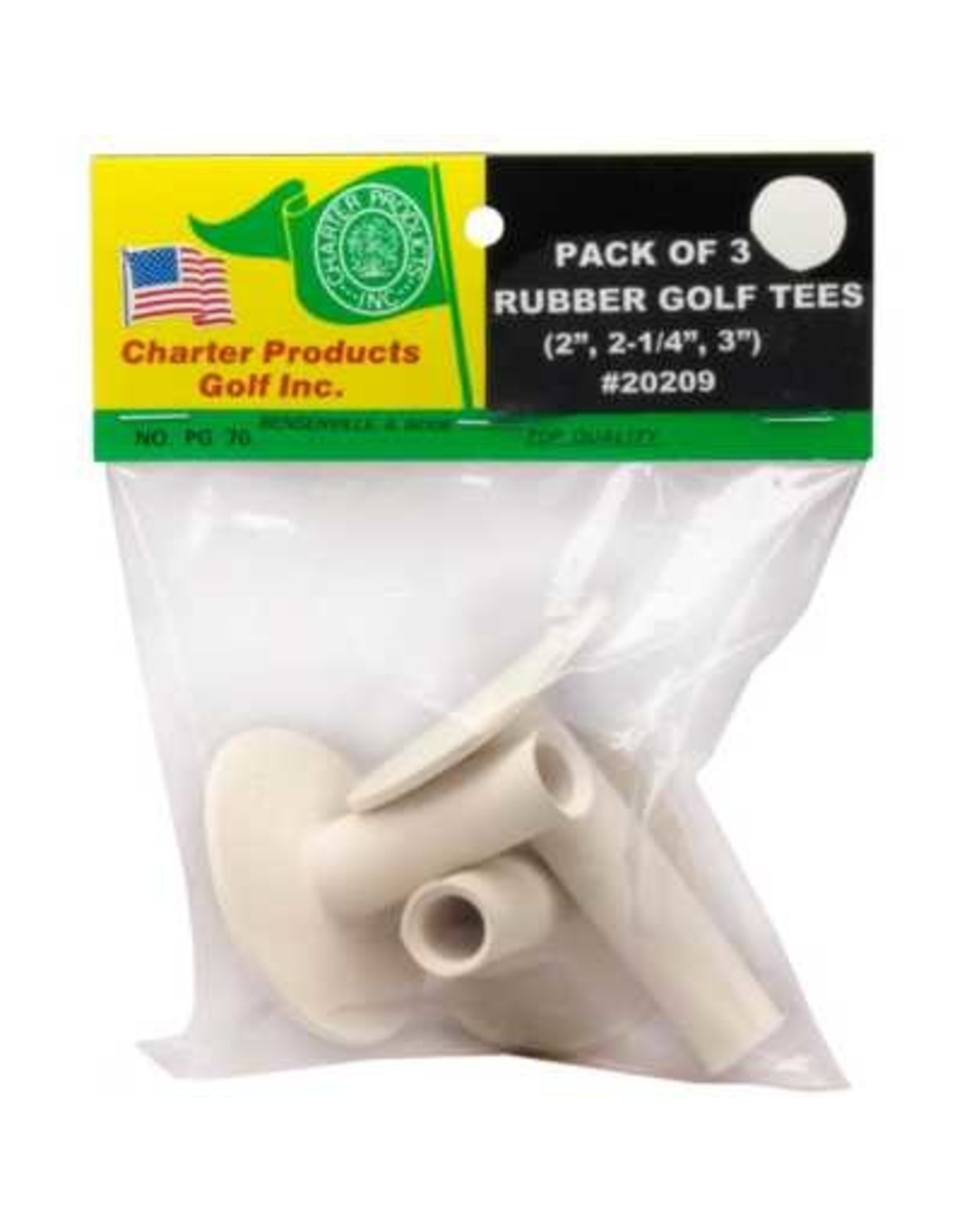Basic Accesories Charter Pck 3 Rubber Tees