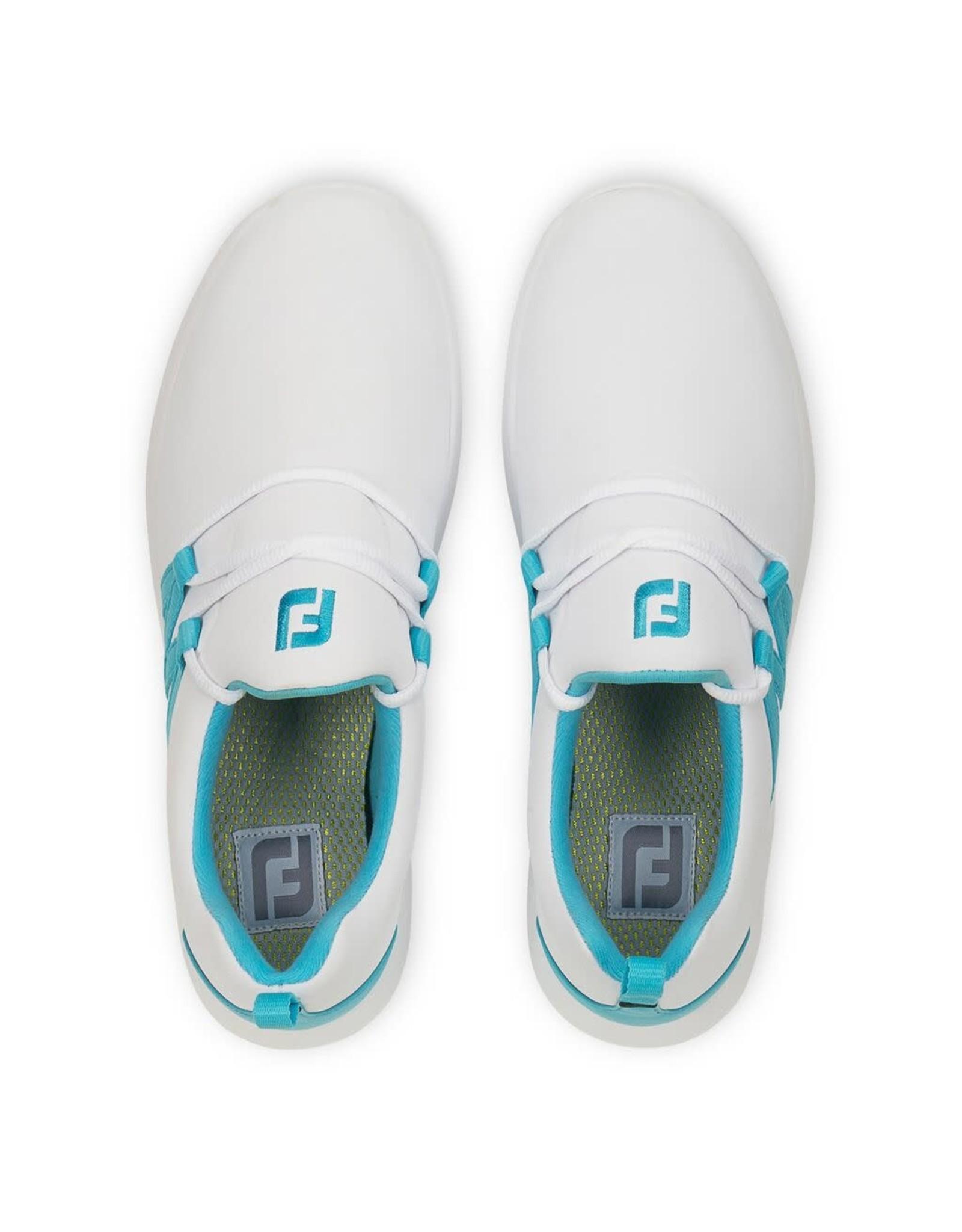 FJ FJ Leisure Slip-On White/Teal