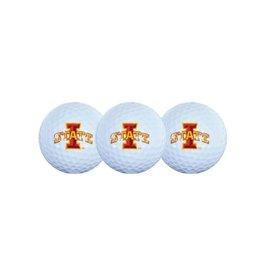 Team Effort Team Effort ISU 3pck Golf Balls