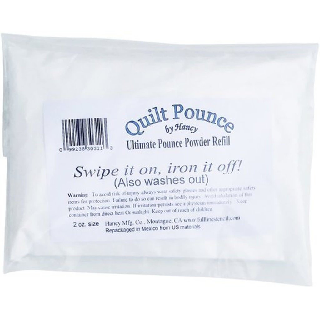 Hancy White Ultimate Quilt Pounce Chalk Refill, 2 oz