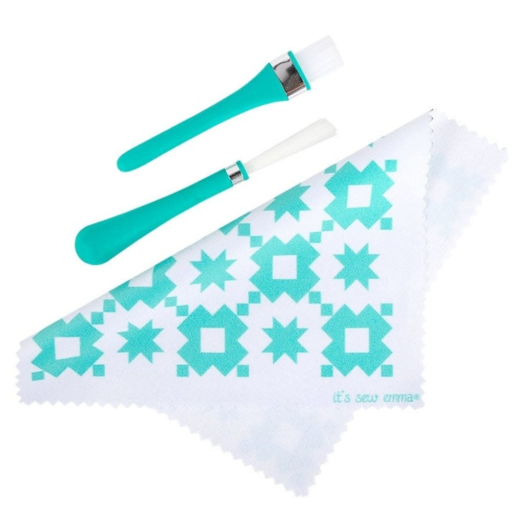 Oh Sew! Clean Brush & Cloth Set- ISE 7390-Its Sew Emma