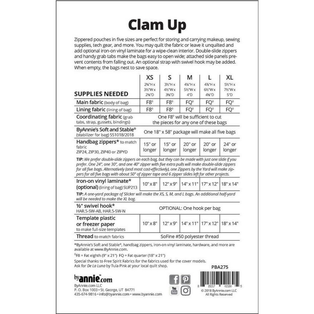 Clam Up pattern