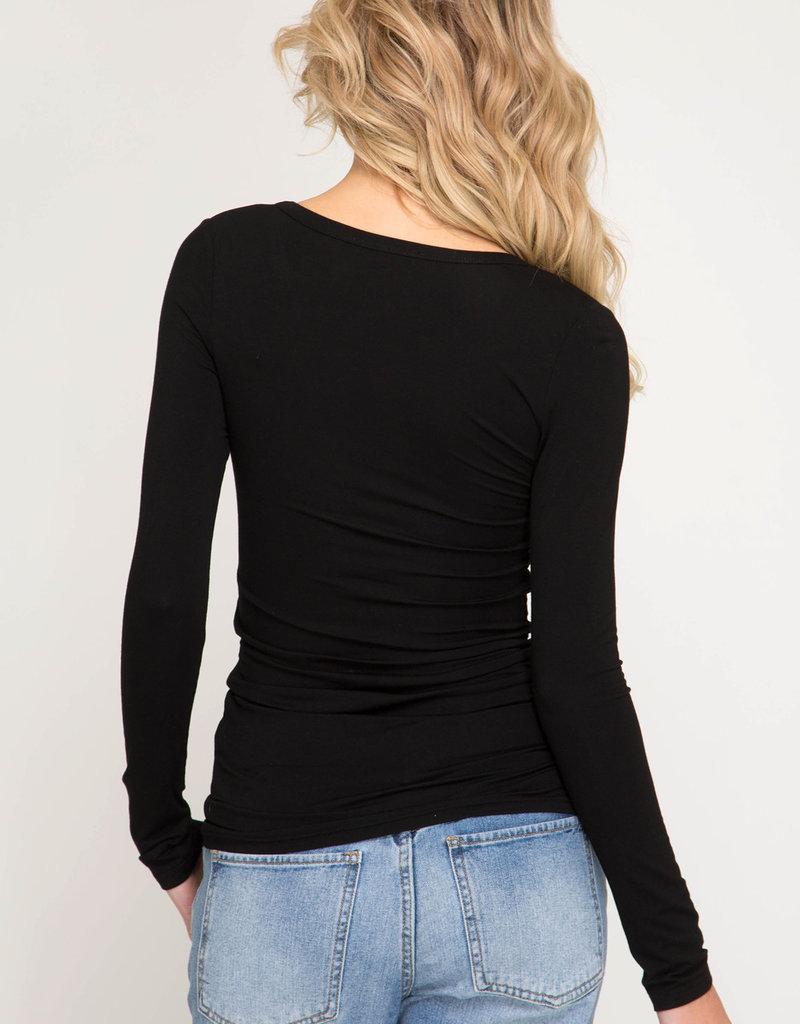 Basic V neck Long Sleeve