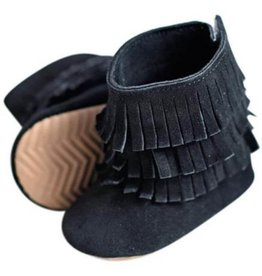 Genuine Suede Fringe Boots-2 Colors!