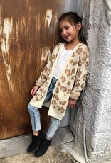 Lightweight Leopard Knit Open Front Cardigan