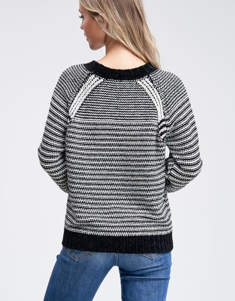 Chenille Braid Sweater
