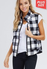 Buffalo Plaid Vest Extended Sizes