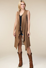 Mocha Suede With Lace Vest