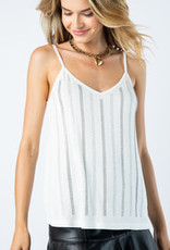 White Cami with Stones