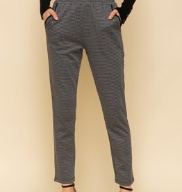 Grey Houndstooth Jogging Pants
