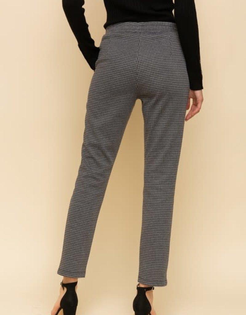 Grey Houndstooth Jogging Pants