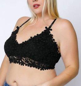Black Lace Plus Bralette