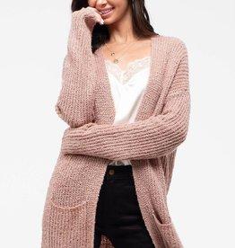 Longline Pink Cardigan