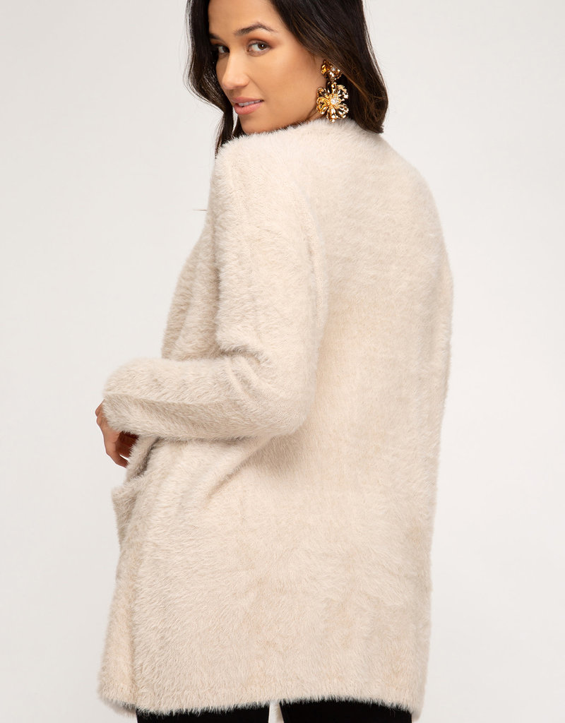 Fuzzy Knit Cardi
