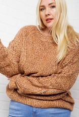 Knit Marled Pullover Sweater