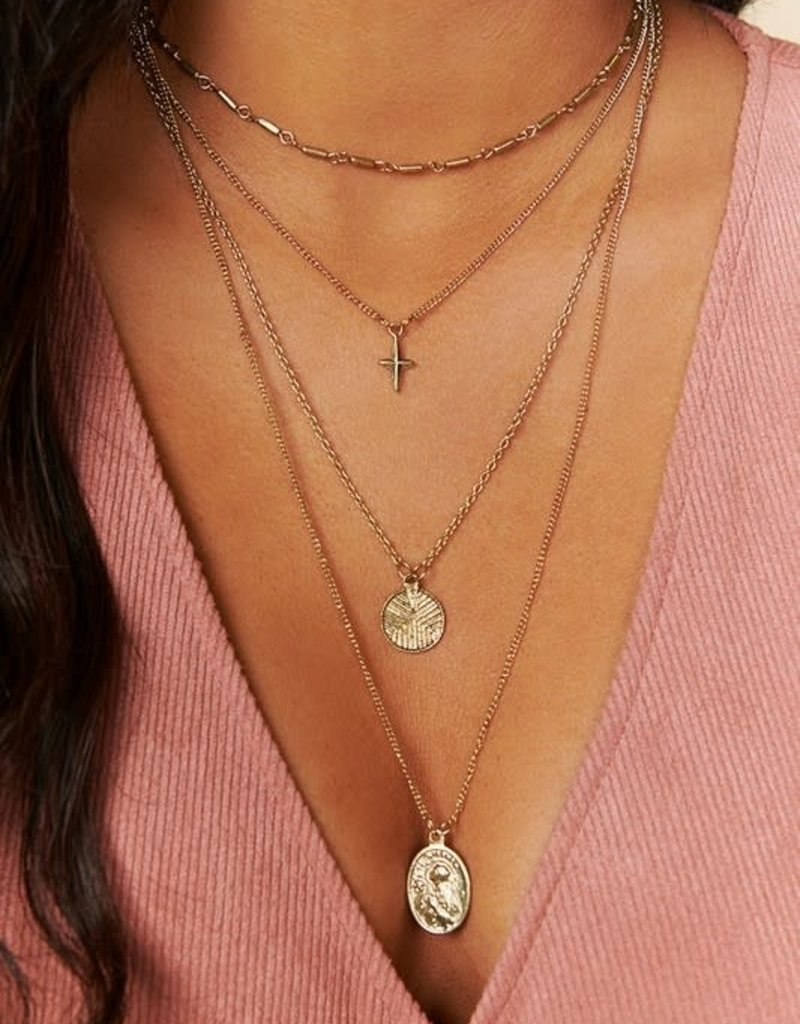 Oleanders Boutique Layered Coin charm necklace