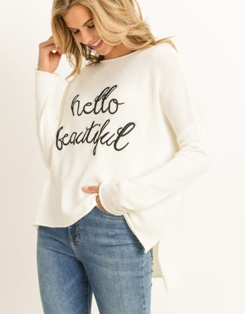 Oleanders Boutique Hello Beautiful Sweatshirt