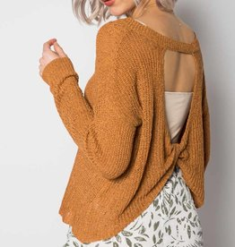 Oleanders Boutique Solid Pullover with Back Twist