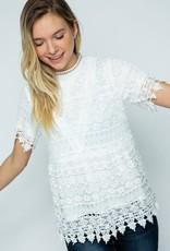 Oleanders Boutique Laced trim blouse