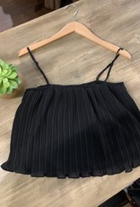 Oleanders Boutique Flowy black crop