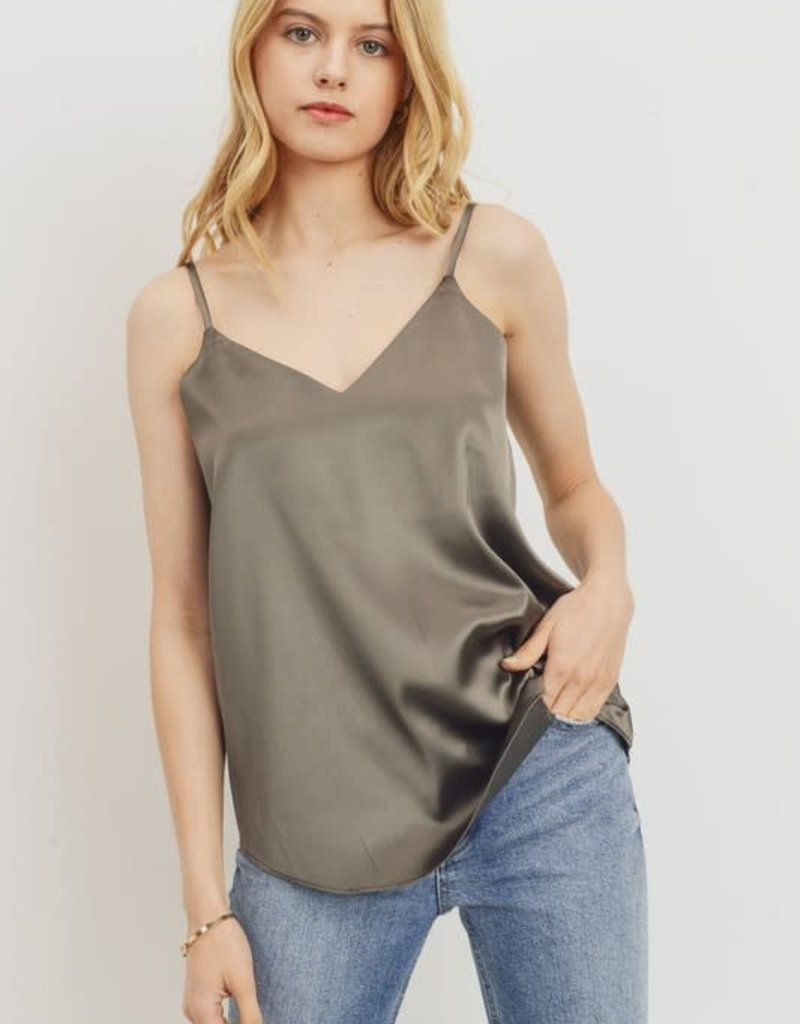 Oleanders Boutique Silk olive tank