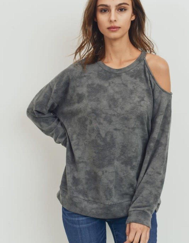 Oleanders Boutique One side cold shoulder sweatshirt