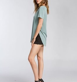 Oleanders Boutique Sage crew neck basic