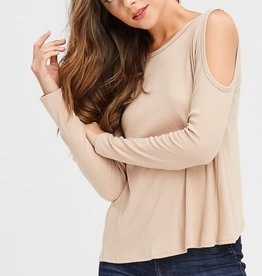 Oleanders Boutique cold shoulder split back