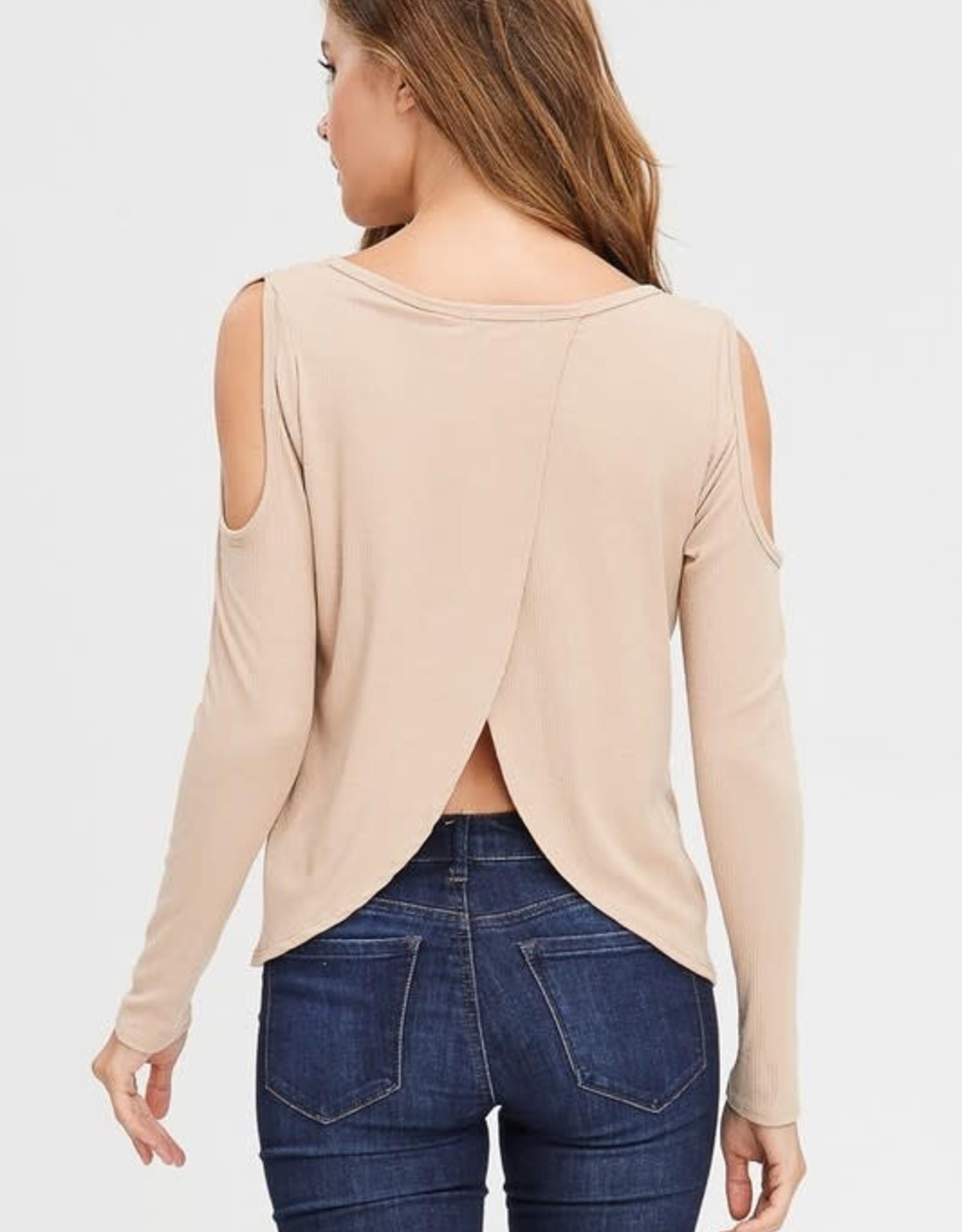 Oleanders Boutique cold shoulder split back