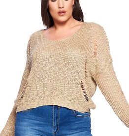 Oleanders Boutique Distressed Detail Sweater