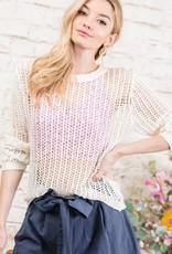 Oleanders Boutique White Crochet Top